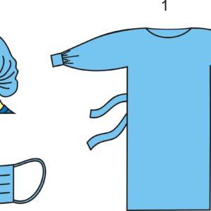 Комплект одежды хирургической одноразовый стерильный №1