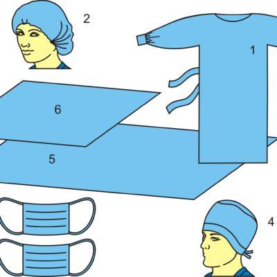 Комплект одежды хирургической одноразовый стерильный №2