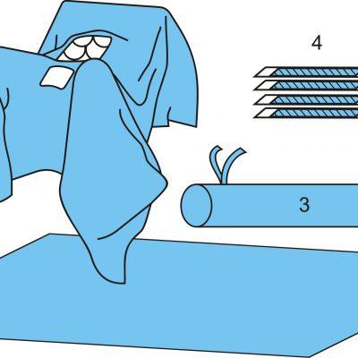 Комплект белья для лапароскопии одноразовый стерильный №2