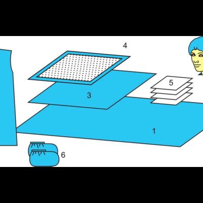 Комплект белья акушерского одноразовый стерильный № 1 ТУ РБ 800015628.0001-2003