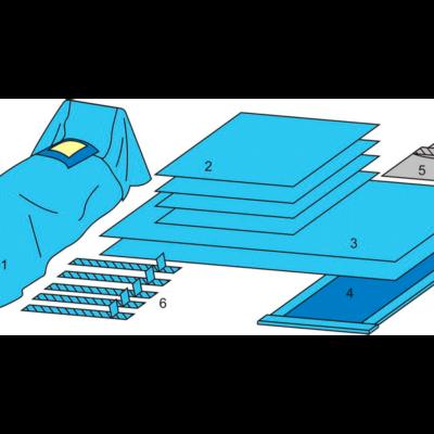 Комплект белья для АКШ одноразовый стерильный  ТУ РБ 800015628.0001-2003