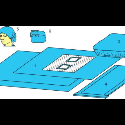 Комплект белья для ангиографии одноразовый стерильный  №2