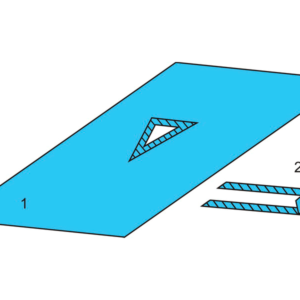 Комплект белья для общей хирургии одноразовый стерильный №3 ТУ РБ 800015628.0001-2003