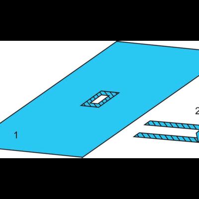 Комплект белья для общей хирургии одноразовый стерильный №4