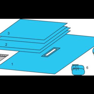 Комплект белья для общей хирургии (DHS) одноразовый стерильный