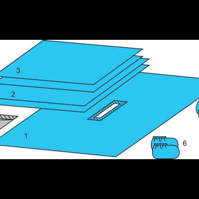 Комплект белья для общей хирургии (DHS) одноразовый стерильный ТУ РБ 800015628.0001-2003