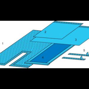 Комплект белья для общей хирургии (для эндопротезирования бедра) одноразовый стерильный