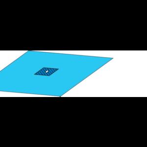 Простыня-наглазник (100*100) с липким слоем и карманом