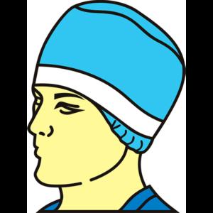 Шапочка-шарлоттиа хирургическая «Астро» с потопоглащающей полосой