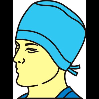 Колпак хирургический 230 мм без подворота (с подворотом)