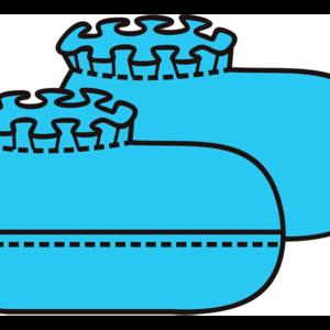 Бахилы низкие хирургические 150 мм без/с двойной подошвой