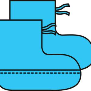 Бахилы высокие хирургические 360 мм без/с двойной подошвой