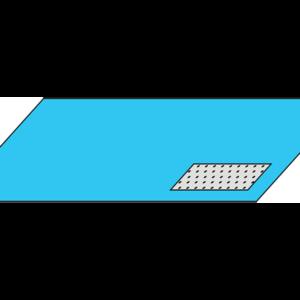 Простыня большая операционная 210*140 см для колоноскопии с впитывающей зоной 50*60 см